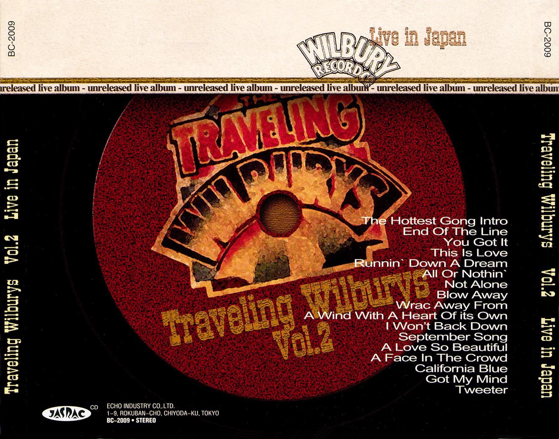 traveling wilburys live japan unreleased album